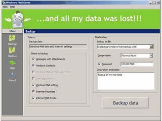 Backup und Synchronisation für Microsoft Windows Mail