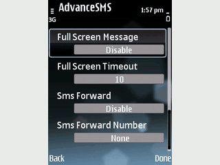 SMS Scheduler, Auto-Reply und Weiterleitung sowie personalisierte Töne.
