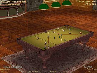 Toll gemachte 3D Billiard-Simulation. Spielbar im Web, im Netz oder alleine.