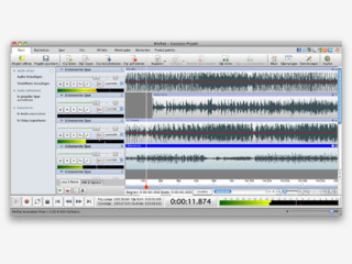 Mehrspur-Audiorecording Software für den Mac.