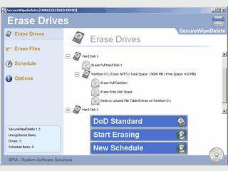 Sicheres Löschen von Dateien, Ordnern und ganzen Festplatten