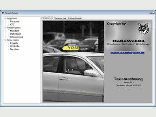Software zum Speichern und Verarbeiten von Taxischichtzetteln