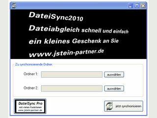 Mit DateiSync2010 können Sie Verzeichnisse miteinander synchronisieren.
