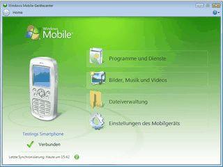 Synchronisierung und Einrichtung von Windows Mobile Devices