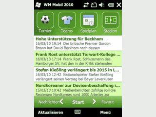 Die Fußball-Weltmeisterschaft auf dem Windows Phone