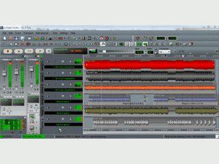Multitrack Musik-Recording und -Bearbeitung.