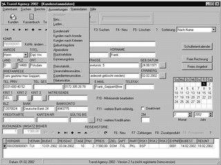 Software zur Verwaltung von Kunden, Reisen und Zahlungen im Reisebüro