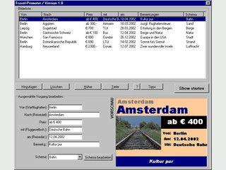 Präsentations-Software zur automatischen Anzeige von Reiseangeboten.