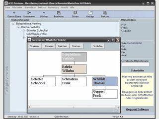 Software zur hierarchischen Provisionsabrechnung von Mitarbeitern.