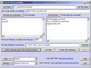 Erzeugt eine HTML- oder XML Sitemap aus eine Lokalkopie Ihrer Website