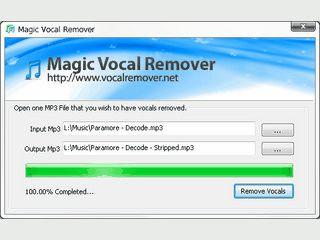 Entfernt die Gesangsstimmen aus MP3 Dateien, bzw. reduziert deren Lautstärke.