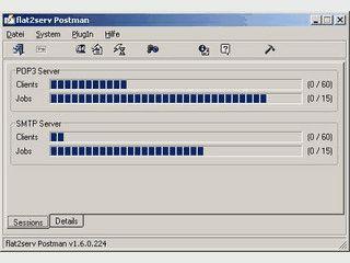 flat2serv Postman ist ein professioneller POP3- und SMTP Mailserver