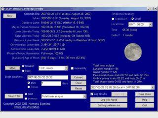 Software zur Bestimmung von Finsternissen und Mondphasen