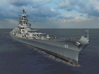 Eines der größten Schlachtschiffe der Marinegeschichte als Screensaver.