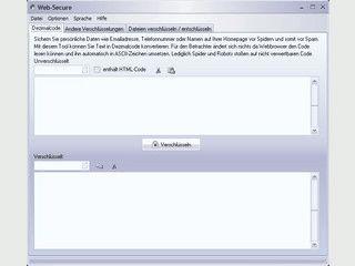 Konvertiert Text in Dezimalzeichen zum Schutz vor Spidern auf Webseiten.