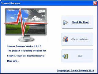 Removal-Tool für das Malware Rootkit Stuxnet, bzw. Tmphider.