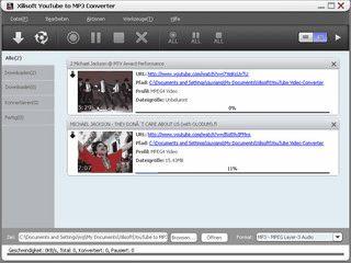 YouTube Flash FLV Videos downloaden und in MP3, WAV, MP2 Audio umwandeln