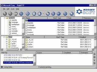 FTP Client mit Drag'n Drop Unterstützung und Warteschlange (Queue)