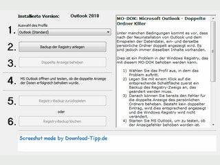 Doppelte Ordner in MS Outlook entfernen.