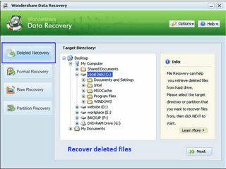 Software zur Rettung verlorener und versehentlich gelöschter Daten.