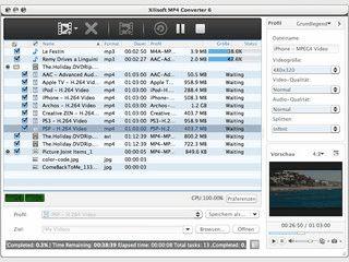 Wandelt fast alle Videoformate in andere Formate um.