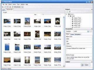 Software zum Erstellen Ihres Onlinefotoalbums.