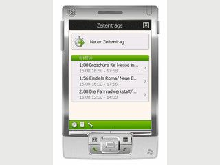 Zeiterfassung für Windows Mobile Smartphones