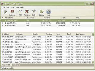Trafficmonitor für kleine Unternehmensnetzwerke und Privatanwender.