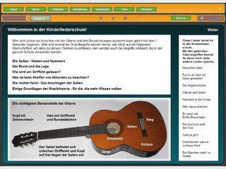 Kinderlieder-Gitarrenschule für Anfänger.