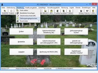 Software für die Friedhofsverwaltung inklusive digitalem Lageplan.