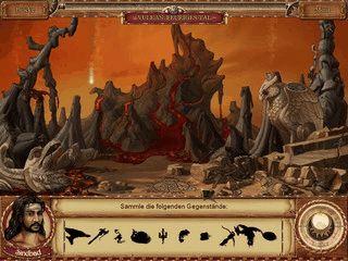 Die Abenteuer von Sindbad sind das Thema in diesem Wimmelbildspiel.