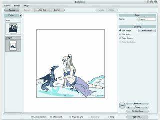 Vektorgrafik-Software mit der Sie Mangas und Comics zeichnen können.