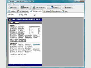 Software zum Einfachen Erstellen von Produktkatalogen für den Ausdruck.