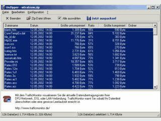 Mit UnZipper entpacken Sie mit nur ein paar Mausklicks ZIP-Dateien.