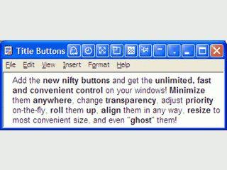 Neue Buttons in der Fensterleiste zum Aufrollen und Festpinnen von Fenstern.