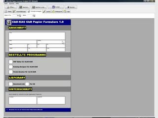Software mit der Sie Papier-Formulare zum Ausdruck erstellen können.