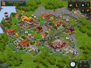 In dem Spiel bauen Sie gegen die Zeit eine Eisenbahnlinie auf.