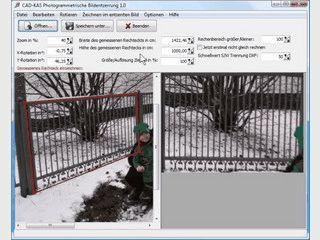 Entzerrt Fotos, so dass eine maßstabsgetreue und plane Oberfläche entsteht