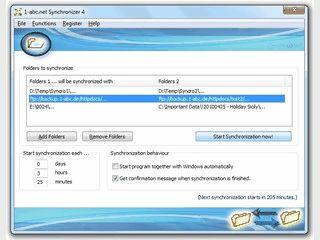 Software mit der Sie Ordner regelmäßig und automatisch synchronisieren können.
