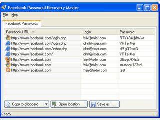 Zeigt von Internetbrowsern gespeicherte Facebook-Passwörter in Klartext.