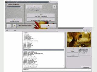 Wechselt automatisch das Desktophintergrundbild in wählbaren Abständen.
