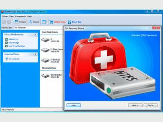 Wiederherstellung gelöschter Dateien und Reparatur defekter NTFS-Partitionen.