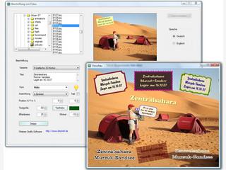 Software mit der Bilder beschriftet werden können, z.B. mit Sprechblasen usw.