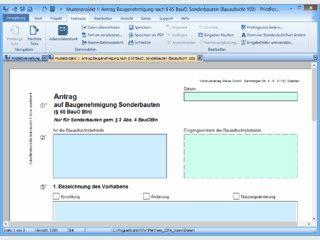 Software zum Ausfüllen und Verwalten von Vordrucken im Baubranche