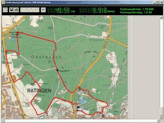 Karte einscannen und Strecke am Bildschirm per Mausklick vermessen