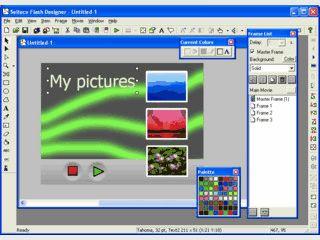 Erstellung von Flash Animationen mit 130 verschiedenen Effekten.