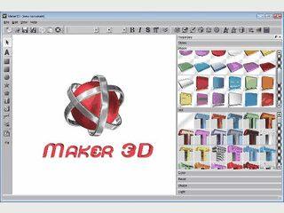 Software zur Erstellung von 3D-Texten, Schaltflächen und Logos.