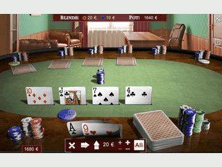 Realistische Poker-Simulation der Texas Hold'em Variante