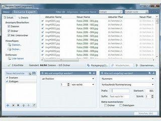 Umbenennen von Dateien und Ordnern mit einer Vielzahl von Einstellmöglichkeiten