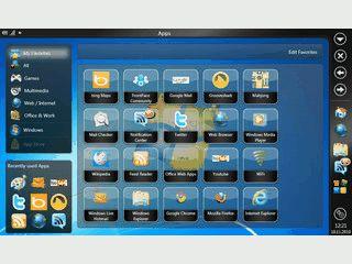 Alternative Benutzeroberfläche für Netbooks, Tablet-Computer und PCs